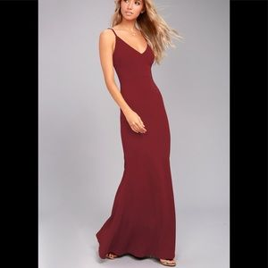 NWT! Lulus Infinite Glory Wine Red Maxi Dress!💃🏻